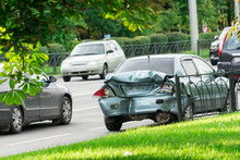 Photo Of The Car After A Traffic Accident.