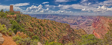 View Of The Grand Canyon East Of The Historic Watch Tower, Managed By The National Park Service, Grand Canyon National Park, Arizona