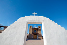 Adobe Church At Taos Pueblo, Taos, New Mexico