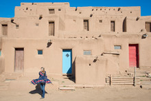 Woman Visitor At Taos Pueblo, ...