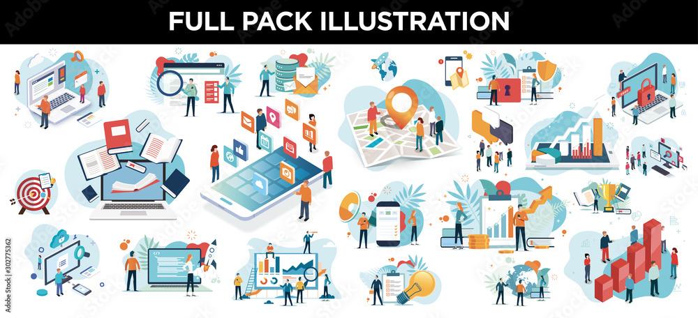 Fototapety, obrazy: illustration business