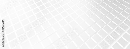 Cuadros en Lienzo  3D ILLUSTRATION WHITE ABSTRACT DESIGN SQUARE DESIGN FOR WALLPAPER, TYLES DESIGN,