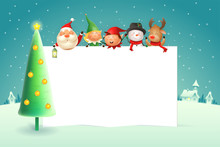 Christmas Poster Template With...