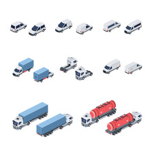 Transport Vector 3d Isometric, Color Web Icon, New Flat Style. Creative Illustration Design, Idea For Infographics.