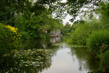 The Fish And Eels Public House Pub In Dobbs Weir Essex Near Hoddesdon And Harlow Canal Side On River Stort