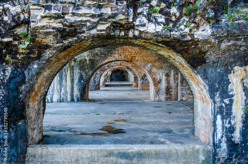 Fort Pickens structure located near Pensacola, Florida, USA Fototapeta