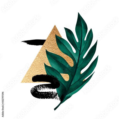 streszczenie-sklad-rosliny-tropikalnej-zlote-figury-geometryczne-i-wzor-zwierzecy