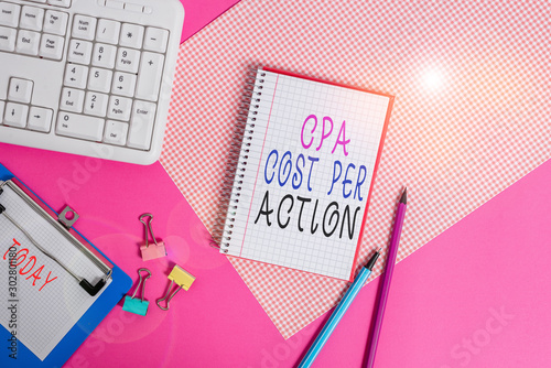 Conceptual hand writing showing Cpa Cost Per Action Canvas Print