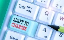 Word Writing Text Adapt To Changes. Business Photo Showcasing Embrace New Opportunities Growth Adaptation Progress