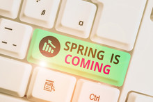 Writing Note Showing Spring Is...