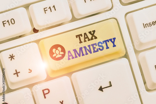 Conceptual hand writing showing Tax Amnesty Canvas Print