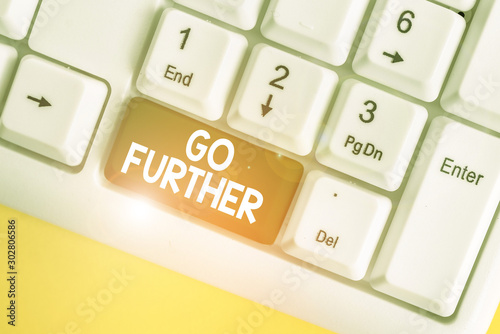 Word writing text Go Further Wallpaper Mural