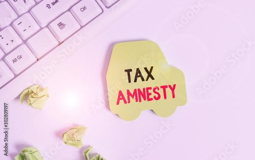 Photo Handwriting text writing Tax Amnesty