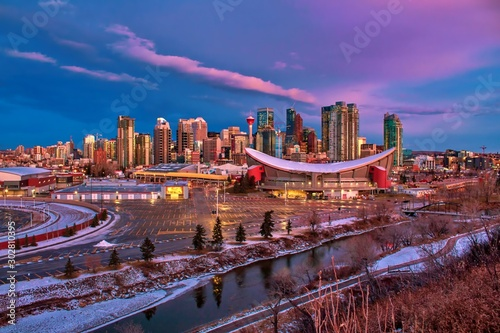Calgary City Views At Dawn