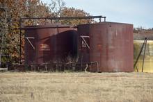 Water Tanks In A Field