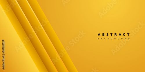 Fototapety, obrazy: Dynamic colorful yellow stripe and clean texture background