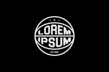 Simple Basket Ball Round Shape Logo Template