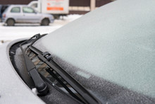 Icy Snowflakes On Frosty Car I...