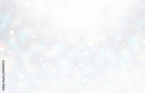 Obraz Winter white blurred texture. Snow glow subtle empty background. Xmas decoration. New Year plain pastel illustration. - fototapety do salonu