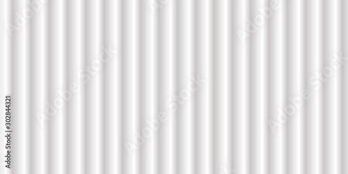 Fotomural Wide clean white texture background with luxury curve pattern wallpaper