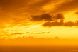 canvas print picture Sunset over sea surface