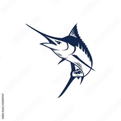 Canvas Print Marlin fish logo