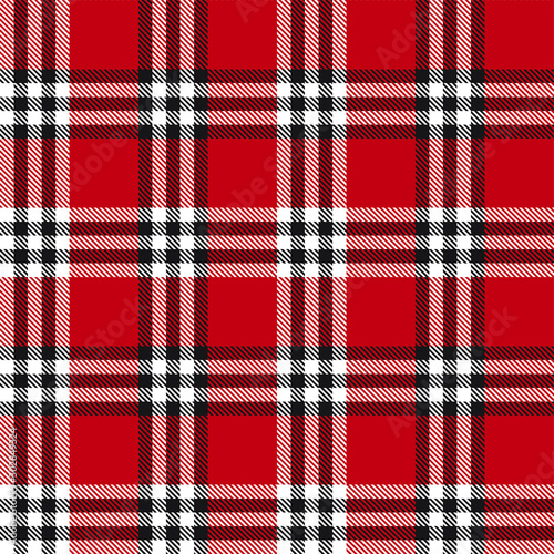 Tuinposter Kunstmatig Classic Modern Plaid Tartan Seamless Pattern in Vector - This is a classic plaid, checkered, tartan pattern suitable for shirt printing, fabric, textiles, jacquard patterns, backgrounds and websites