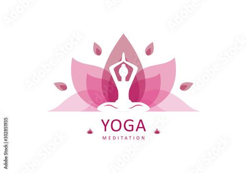 Yoga logo design stock Tableau sur Toile