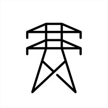Electrical Tower Icon In Trend...