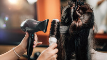 Hairdresser Curling Woman's ...