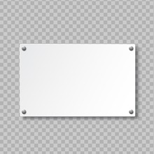 Realistic Signboard On Transparent Background. Door Sign