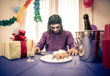 Clown Celebrating Birthday Par...