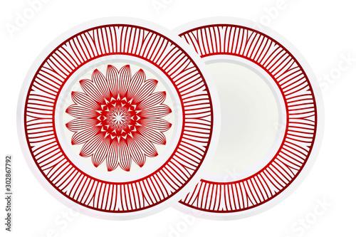 Carta da parati decorative plates for interior design