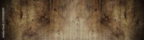 old brown rustic dark brown wooden texture - wood background panorama banner lon Fototapet
