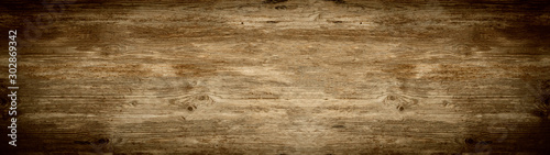 Obraz old brown rustic dark brown wooden texture - wood background panorama banner long - fototapety do salonu