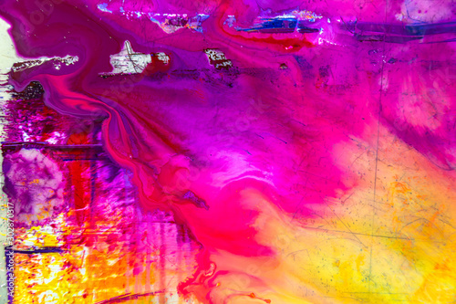 colorful of wet printing ink on printing plate Tablou Canvas