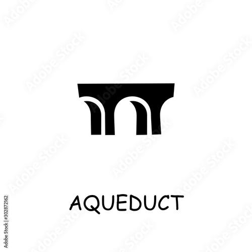 Aqueduct flat vector icon Fototapet