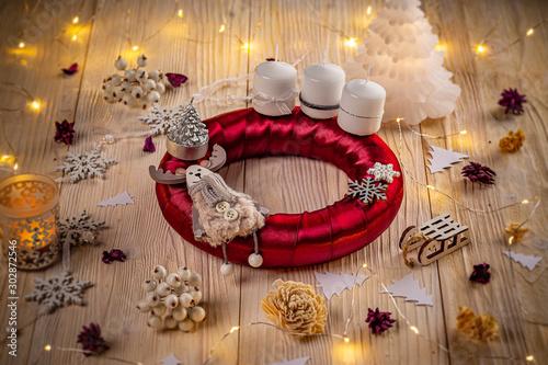 Studio shot of a nice advent wreath #302872546