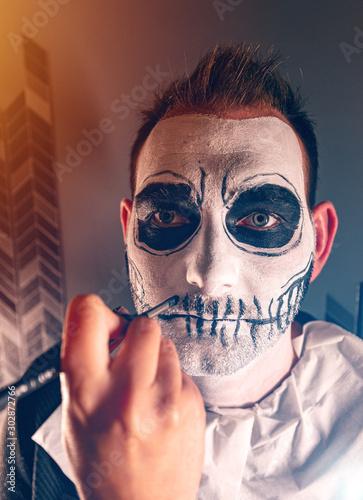 Portrait of male halloween cosplayer #302872766