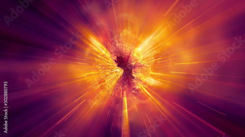 Fotografia explosion fire abstract background texture