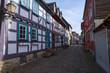 Kleine Gasse mit Fachwerkhäusern in Idstein/Deutschland
