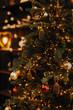 Leinwanddruck Bild - christmas tree with lights