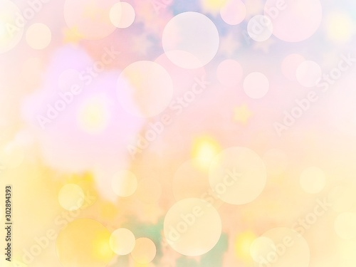 Bokeh and abstract background of celebration, party, Christmas vibes, New Years, any anniversary, or crystal fun theme with gem, dim, blurred,  vivid light bulbs and flare Wallpaper Mural