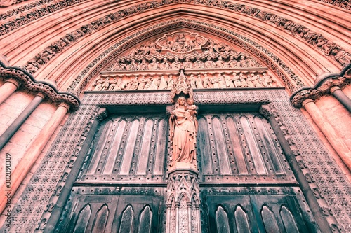 Photo London Westminster Abbey. Filtered colors style.