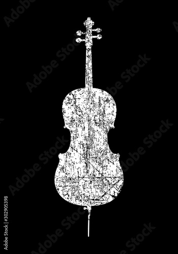 Vászonkép Cello (Ancient White)