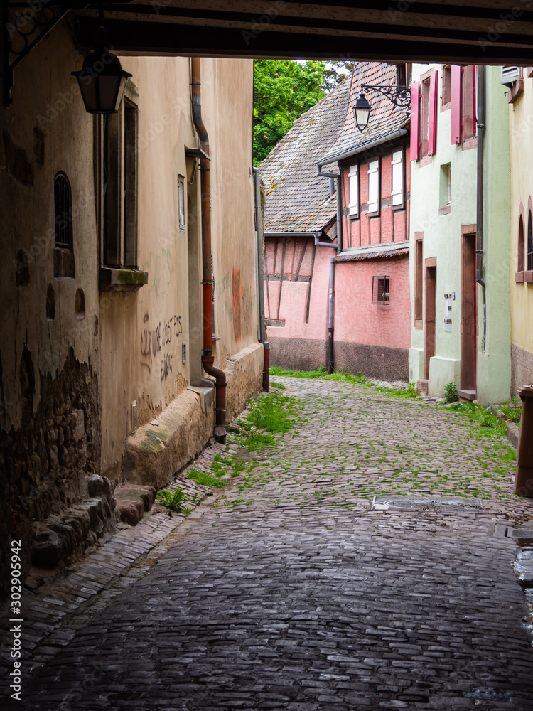 Alley in the old city, Colmar