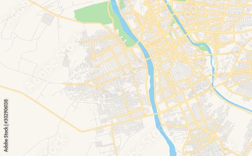 Photo  Printable street map of Timon, Brazil