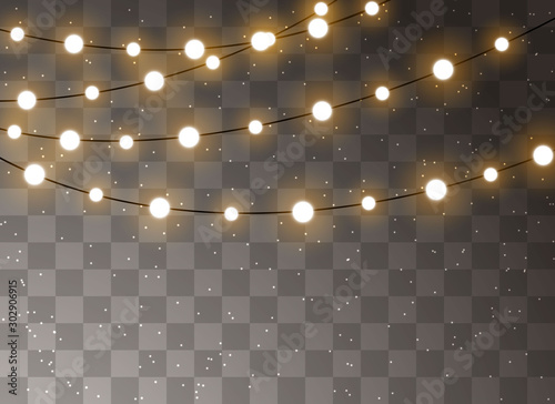 Foto  Christmas lights isolated realistic design elements