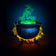 Cauldron Witch Halloween Wallpaper Game