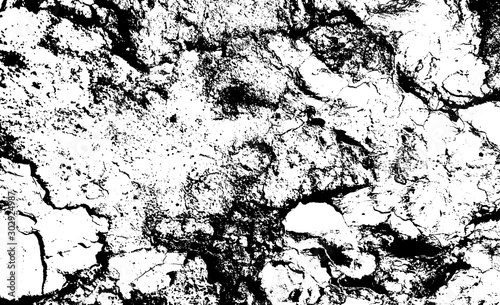 Fototapeta  Distressed overlay texture of rough surface, cracked concrete, stone and asphalt